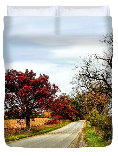 Midwest Autumn  Duvet Cover by Pat Cook