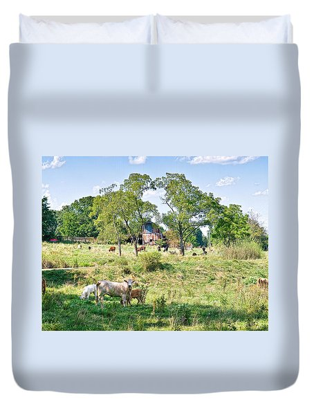 Midwest Cattle Ranch Duvet Cover