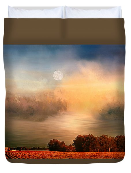 Midwest Harvest Moon Duvet Cover