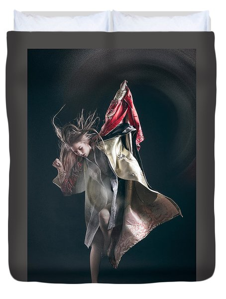 Miegakure - The Fight #3 Duvet Cover