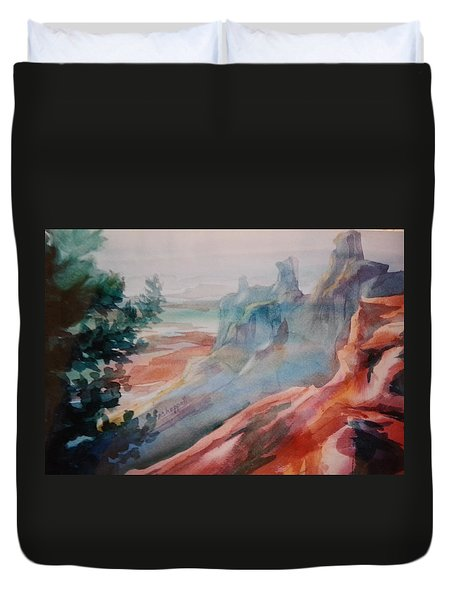 Mighty Canyon Duvet Cover by Becky Chappell