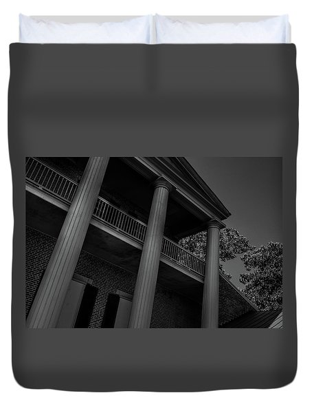 Duvet Cover featuring the photograph Mighty Columns - The Hermitage by James L Bartlett