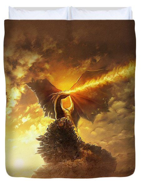 Mighty Dragon Duvet Cover