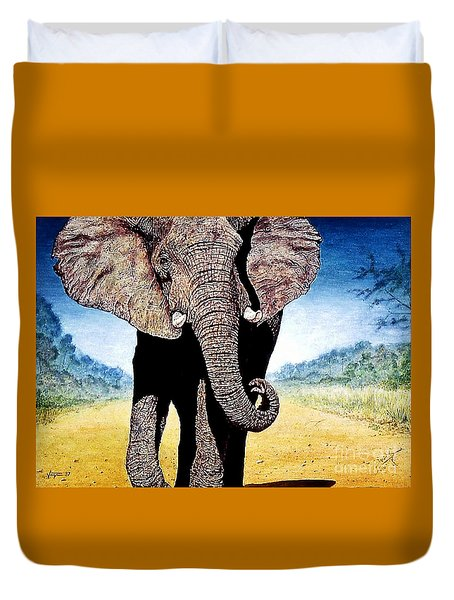Mighty Elephant Duvet Cover by Hartmut Jager