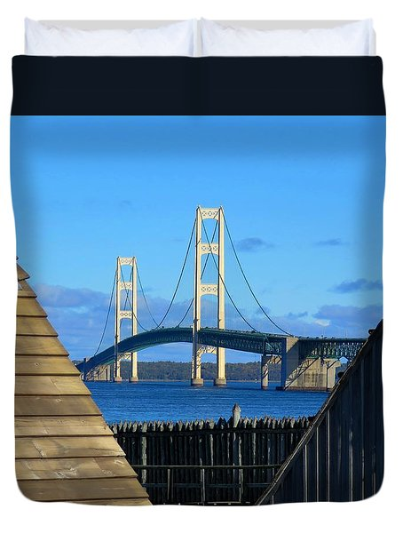 Mighty Mac From Michilimackinac Duvet Cover