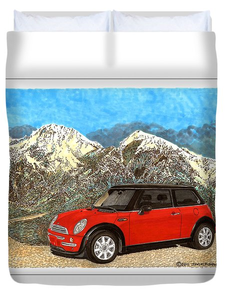 Mighty Mini Cooper S Duvet Cover by Jack Pumphrey