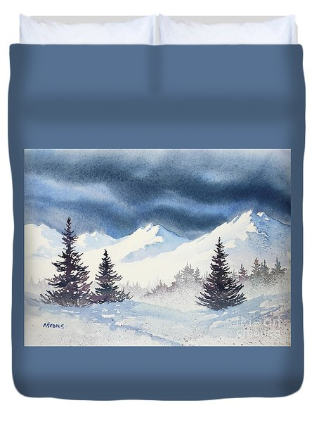 Mighty Mountains Duvet Cover by Teresa Ascone