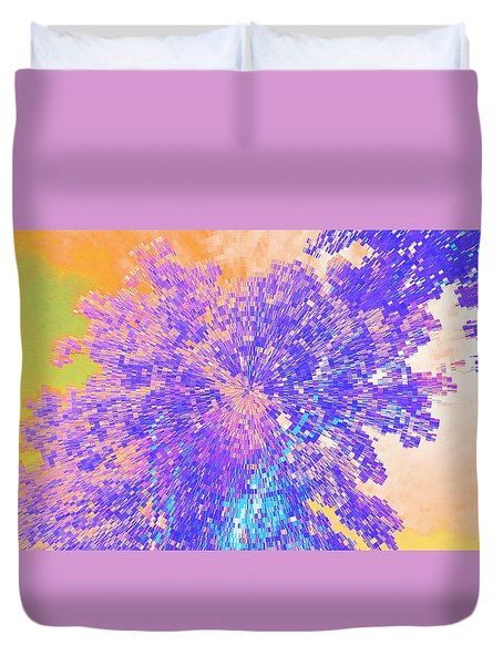 Duvet Cover featuring the mixed media Mighty Oak Abstract by Mike Breau
