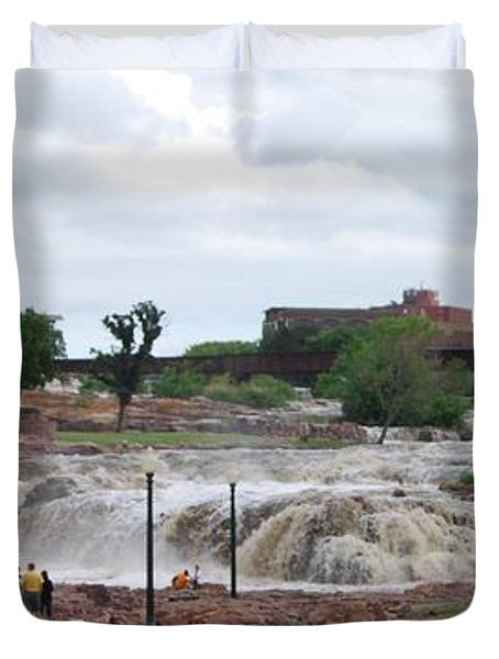 Mighty Sioux Falls Duvet Cover