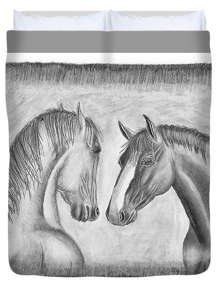 Mighty Vs Gentle Duvet Cover by Susan Schmitz