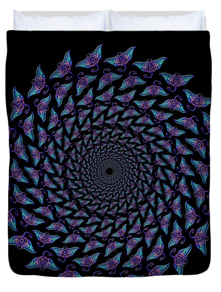 Tribal Migrating Mantas Duvet Cover