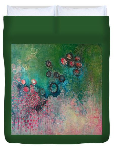 Duvet Cover featuring the painting Migration by Laurie Maves ART