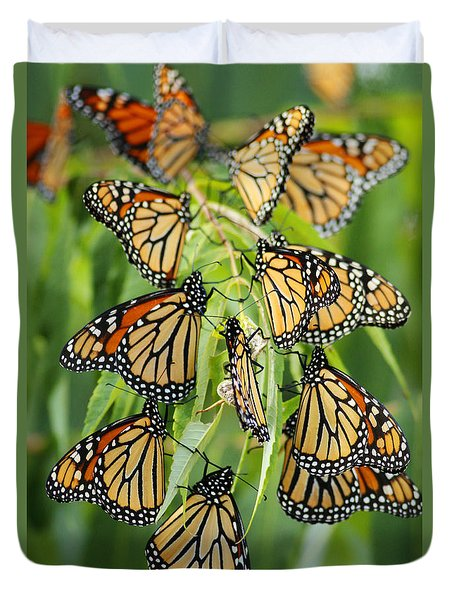 Migration Of Monarchs Duvet Cover