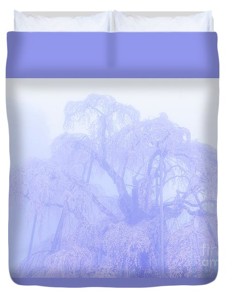 Duvet Cover featuring the photograph Miharu Takizakura Weeping Cherry01 by Tatsuya Atarashi