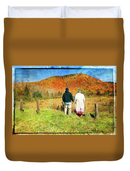 Mike And Lisa Duvet Cover