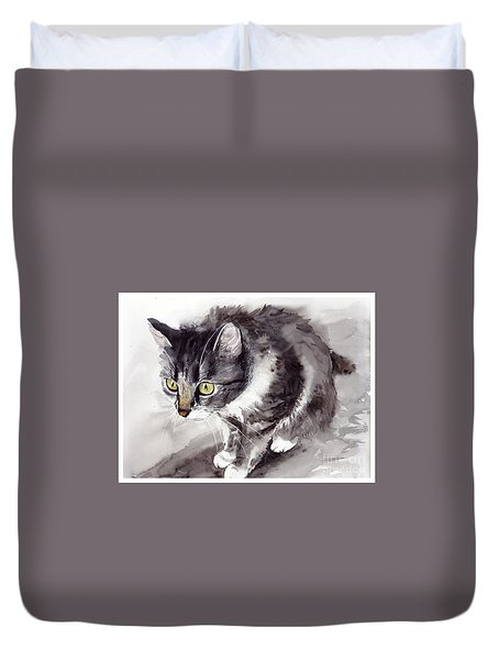Mike Mice Catcher Duvet Cover