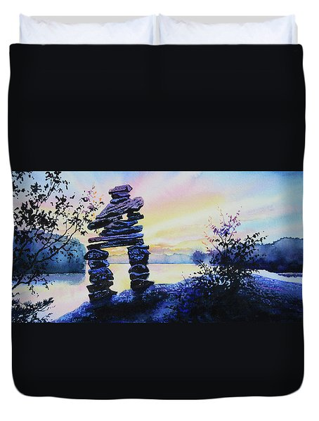 Mike Was Here Duvet Cover