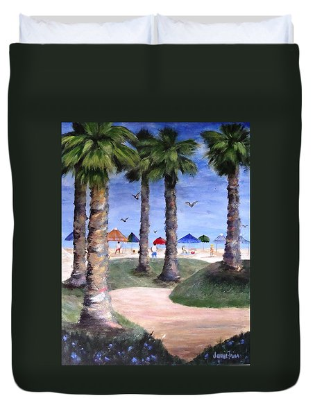 Mike's Hermosa Beach Duvet Cover