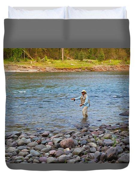 Mike's River-1 Duvet Cover by Alex Suescun