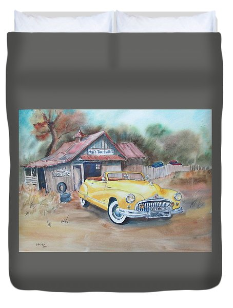 Mikes Tires Duvet Cover