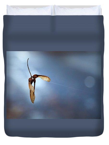 Miksang 3 Maple Seeds Duvet Cover by Theresa Tahara