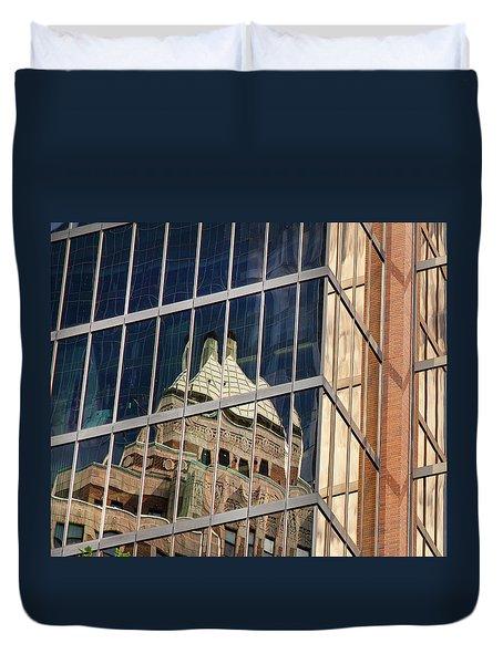 Miksang 9 City Duvet Cover by Theresa Tahara