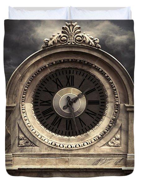 Milan Clock Duvet Cover