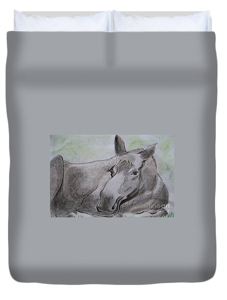 Mildred The Moose Resting Duvet Cover