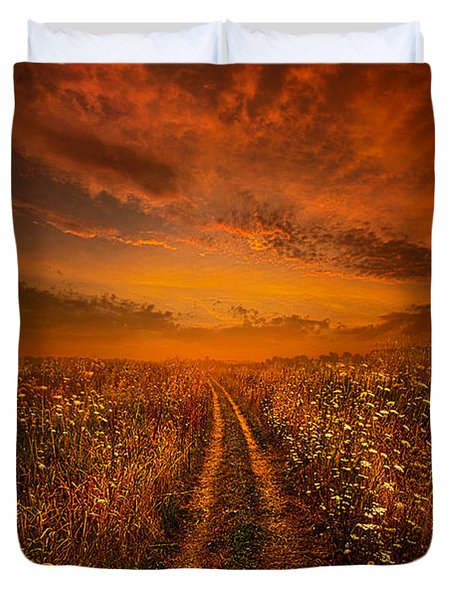 Miles And Miles Away Duvet Cover by Phil Koch