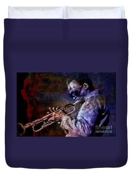 Miles Davis Jazz Legend 1969 Duvet Cover