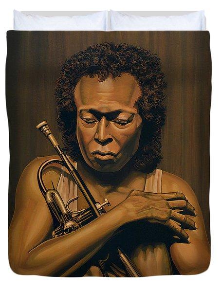 Miles Davis Painting Duvet Cover