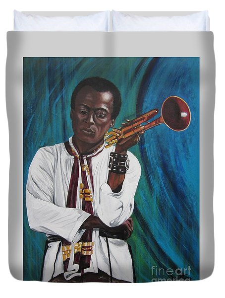 Miles-in A Really Cool White Shirt Duvet Cover