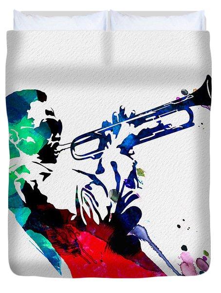 Miles Watercolor Duvet Cover