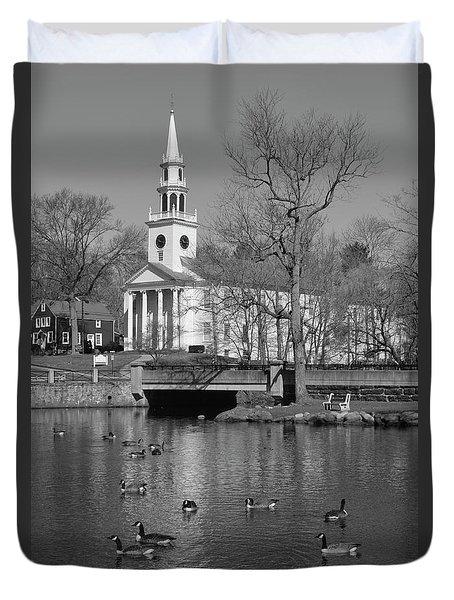 Milford Congregational Church Bw Duvet Cover