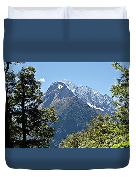 Milford Sound, New Zealand Duvet Cover