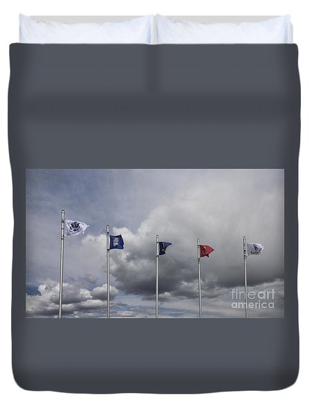 Military Branch Flags Duvet Cover