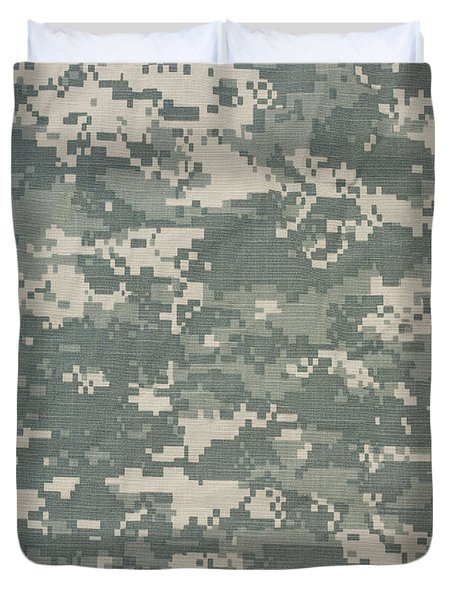 Military Cameoflage Duvet Cover by George Robinson