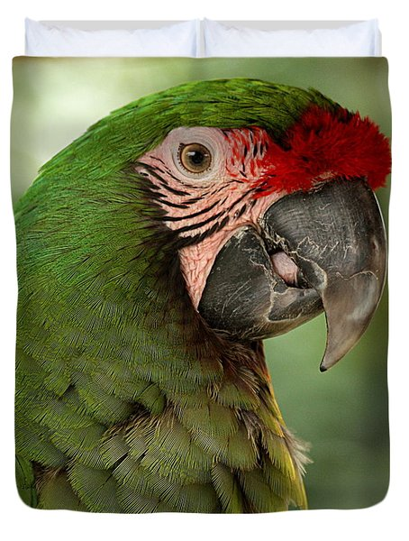 Military Macaw Duvet Cover