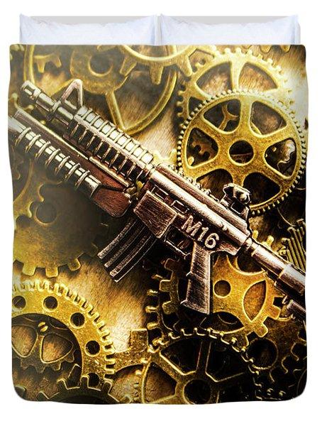 Military Mechanics Duvet Cover