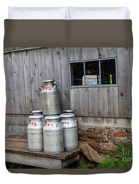 Milk Cans Duvet Cover