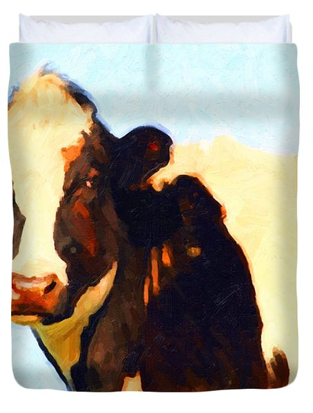 Milk Cow . Photoart Duvet Cover by Wingsdomain Art and Photography
