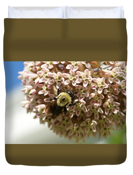 Duvet Cover featuring the photograph Milkweed by Heidi Poulin