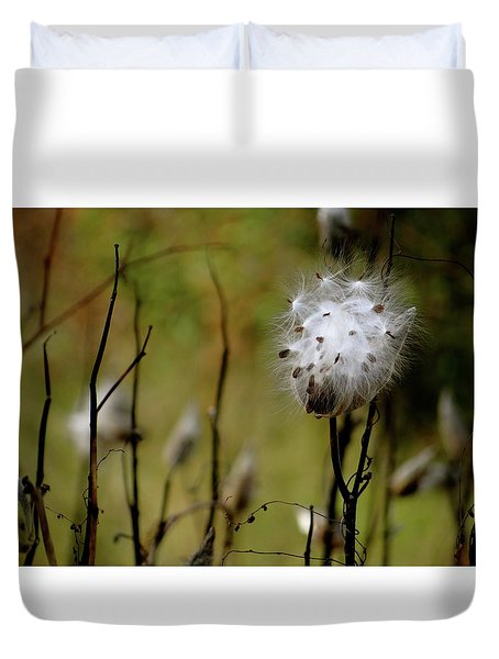 Milkweed In A Field Duvet Cover