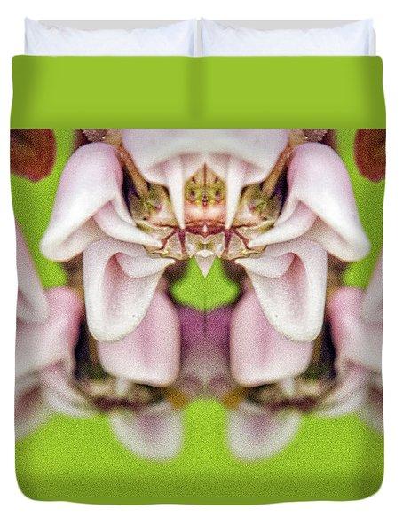 Milkweed Mirror Image Pareidolia Duvet Cover