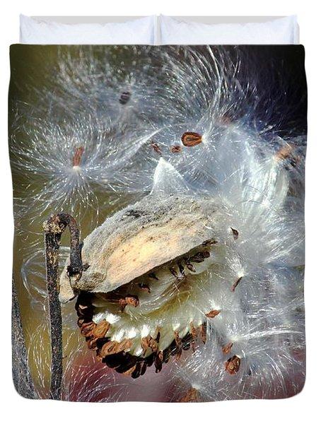 Milkweed Silk Duvet Cover