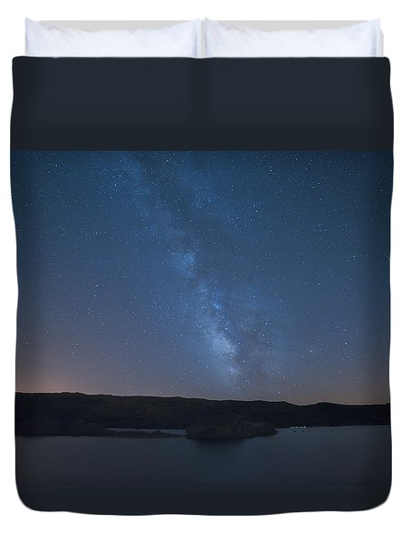 Duvet Cover featuring the photograph Milky Lagoon by Bruno Rosa
