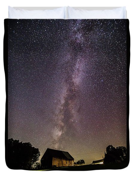 Milky Way And Barn Duvet Cover