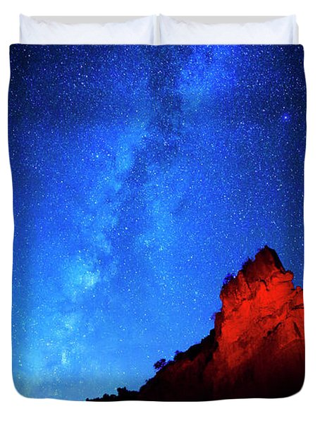 Milky Way And Caprock Duvet Cover