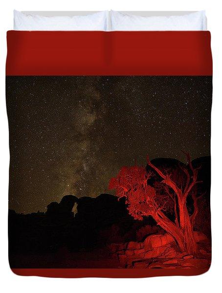 Milky Way And Juniper Duvet Cover