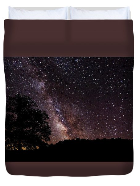 Milky Way And The Tree Duvet Cover